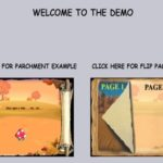 Flip Pages for interactive book